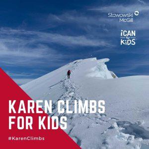 Karen Climbs for Kids - I Can for Kids